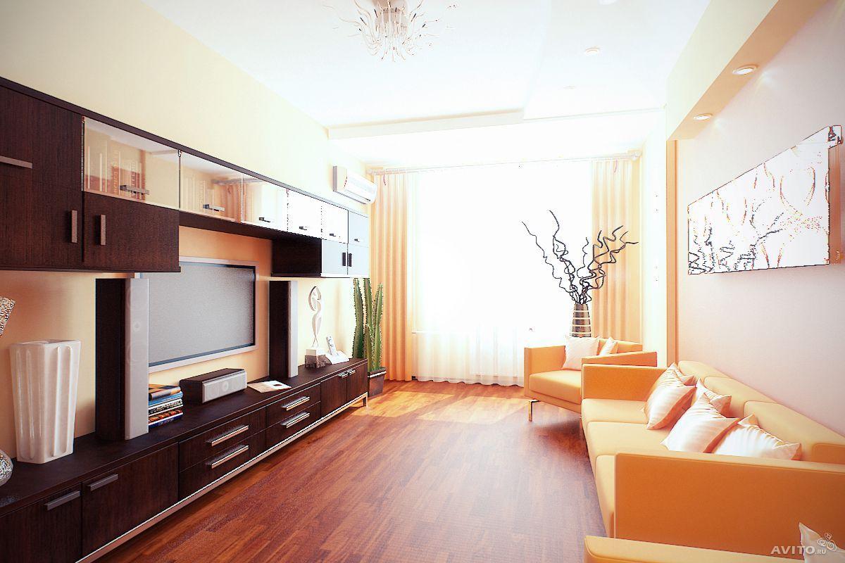 Оформление интерьера двухкомнатной квартиры, 54 квм